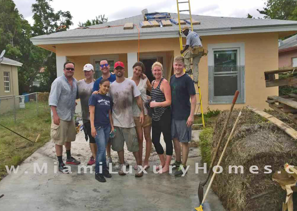 Miami Luxury Home and Exlcusive Title Company co-sponsor a team build for Habitat for Humanity in Liberty City